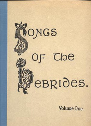 Marjory Kennedy-Fraser - Image: Songs of the Hebrides (cover)