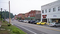 Main Street (West Virginia Route 16) in Sophia in 2007