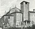 Soriasco parte posteriore della chiesa di S. Maria della Versa xilografia di Barberis.jpg