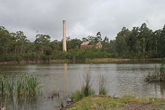 Abernethy, New South Wales - Remains of old Aberdare South Colliery