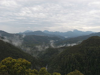 Scotts Peak Dam Road - A view from the Scotts Peak Dam Road looking across the Southwest National Park