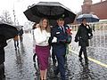 Soyuz MS-04 Jack Fischer and his wife at Red Square.jpg