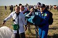 Soyuz TMA-20 Paolo Nespoli shortly after landing.jpg