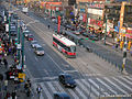 Spadina streetcar's separate right of way in one of Toronto's chinatowns.jpg