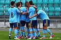 Spain U-19 players celebrate.jpg