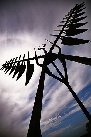 Barrie - Ron Baird's The Spirit Catcher (1986), installed along the waterfront in Barrie