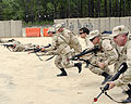 Spouses of U.S. Soldiers endure training in tactical Warfare for a day during the Combat Spouse's day event at the Forward Operating Base on, Fort Gordon Ga 090421-A-NF756-003.jpg