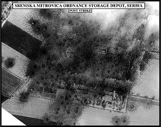Airstrike - Result of an airstrike during the Kosovo War