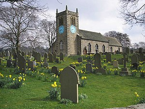 Grade I listed buildings in West Yorkshire - Image: St. Peter's Church and churchyard, Addingham geograph.org.uk 375999