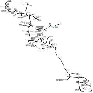 Imperial Royal Privileged Austrian State Railway Company - The StEG railway network