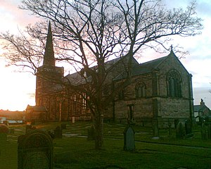 Churchtown, Merseyside - St Cuthberts Church from the Grave Yard 2008
