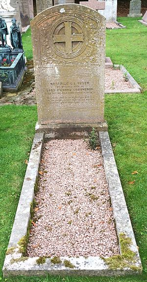 Richard Grosvenor, 1st Baron Stalbridge - Grave of Beatrice Charlotte Elizabeth (née Vesey), first wife of Richard Grosvenor, 1st Baron Stalbridge