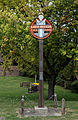 St Peters village sign at Broadstairs St Peters Kent England.jpg