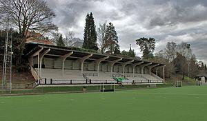 Stade du Vivier d'Oie - The main stand of the Stade du Vivier d'Oie