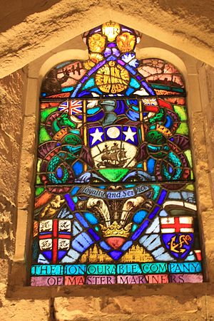 Honourable Company of Master Mariners - Stained glass to the Honourable Company of Master Mariners, Guildhall, London