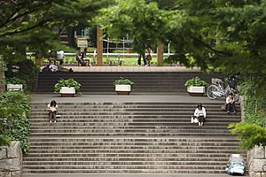 Stairs in the Shinjuku Central Park by mrhayata.jpg