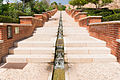 Stairs waterfall Alcazaba gardens, Almeria, Spain.jpg