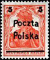 Stamp PL Mi131 over DE Mi99.jpg