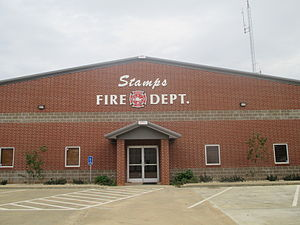 Stamps, Arkansas - Image: Stamps, AR Fire Department IMG 8383