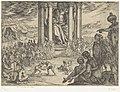 Standbeeld van Jupiter in Olympia Septem orbis admiranda (serietitel) De zeven wereldwonderen (serietitel), RP-P-H-OB-44.042.jpg