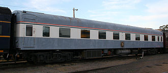 Victorian Railways S type carriage - State Car 5, of S carriage design was used on Victorian Railways Royal Trains.