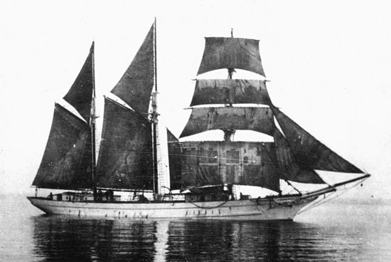 The 1891 Southern Cross, one of the ships at Norfolk Island's Melanesian Mission where Codrington taught and worked StateLibQld 1 116272 Southern Cross (ship).jpg