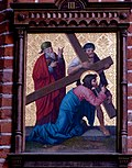 Station 3 Jesus falls the first time, St. Nicholas Church in Elbl?g.JPG