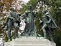 Statue of Maria Ludovika, Archduke Joseph and János Buttler. (05) - Orczy garden, Budapest District VIII.JPG