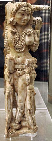 Statuetta indiana di Lakshmi, avorio, da pompei, 1-50 dc ca., 149425, 01.JPG
