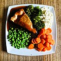 Steak pie lunch at The Plough in Lower Beeding, West Sussex, England.jpg
