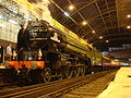 Steam locomotive 60163 Tornado with the Cathedrals Express in London Victoria 18 June 2009.jpg
