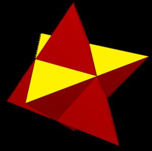 Stellated octahedron - Image: Stellated octahedron stellation plane