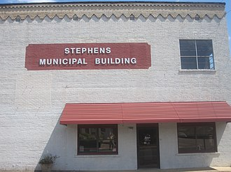 Stephens, Arkansas - Stephens Municipal Building