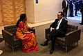 Steven Mnuchin and N. Sitharaman at 2019 IMF Meeting.jpg