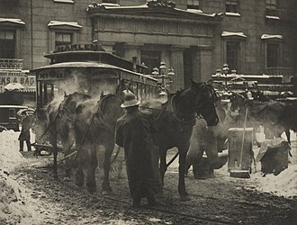"Street photography - Alfred Stieglitz: ""The Terminal"" (1892)"
