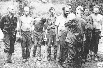 Joseph Stilwell - Stilwell awarding medals at Myitkyina, 1944