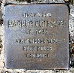 Photo of Markus Gutmann brass plaque