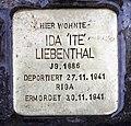 Stolperstein Hektorstr 3 (Halsee) Ida Liebenthal.jpg