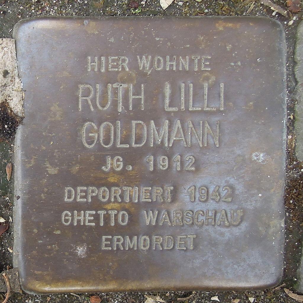 Stolperstein Herford Komturstraße 21 Ruth Lilli Goldmann