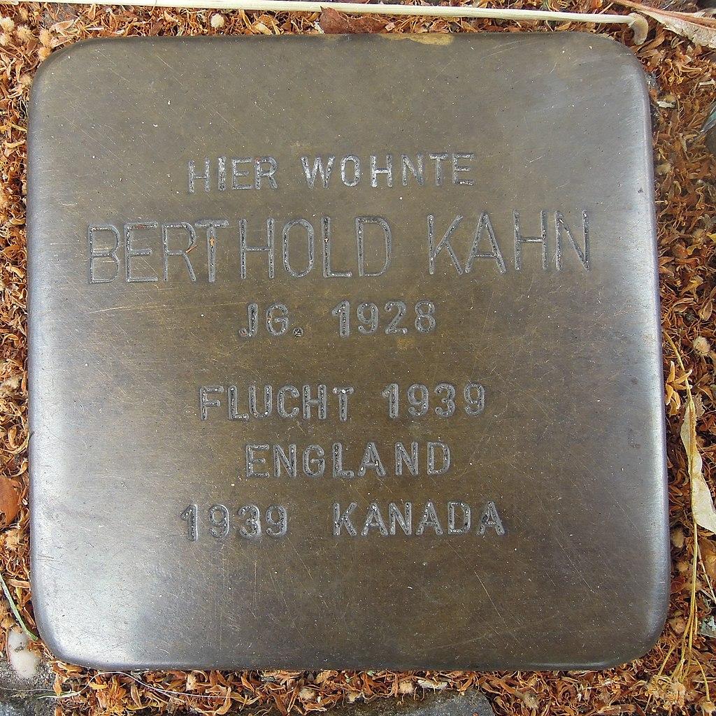 Stolperstein für Berthold Kahn