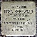 Stolperstein Stierstr 18 (Fried) Rosa Beerwald.jpg