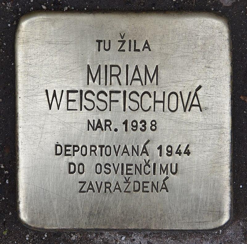 Stolperstein für Miriam Weissfischová.jpg