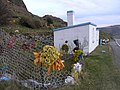 Strange paper decorations and a small white building - geograph.org.uk - 363483.jpg