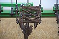 Strip tillage disk-row equipment is vital to healthy cropland in Knox County, Texas. (24743091209).jpg