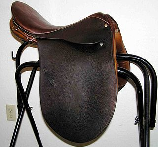 Saddle supportive structure for a rider or other load, fastened to an animals back by a girth