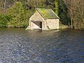 Stubbing Boathouse and Winter Visitor (Scaup) - geograph.org.uk - 320113.jpg