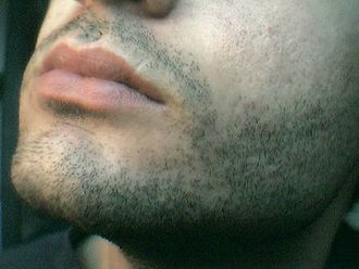 Puberty - Facial hair of a male.