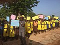 Students in Ghana in a parade for inclusive education.jpg