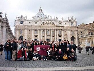 John Felice Rome Center - Image: Students in rome