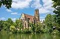 Stuttgart - West - Johanneskirche - Ansicht von OSO mit See quer.jpg